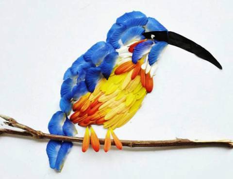 Птицы из лепестков своими руками