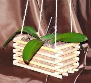 Ящик для орхідеї з бамбука